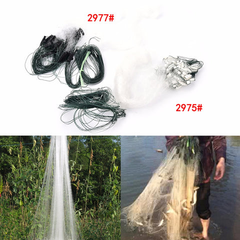 1 Layers Fishing Net Monofilament Fishing Gill Network With Float 2 Options 20m