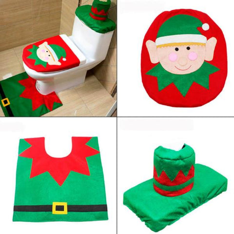 Christmas Bathroom Decoration Set