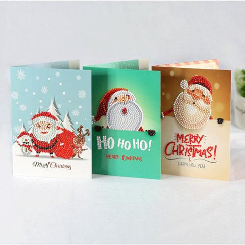 8 Deco Xmas Diamond Card Making Kit