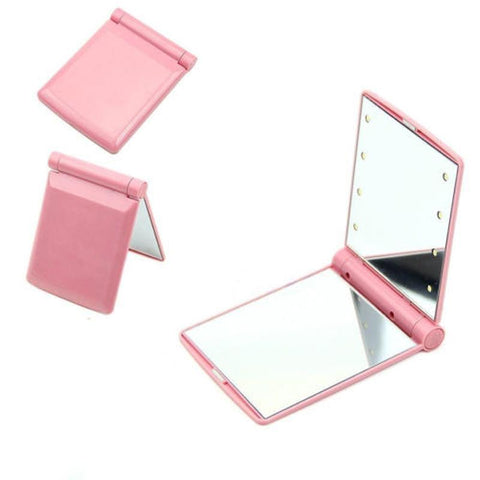 Image of Portable 8 LED Lights Makeup Mirror