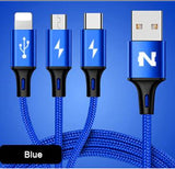Fast Charge 3 in 1 Durable Cable