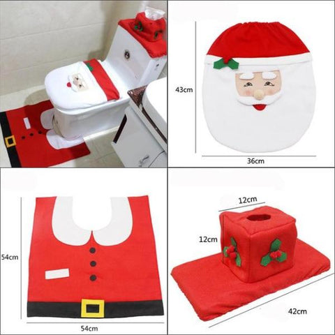Image of Christmas Bathroom Decoration Set