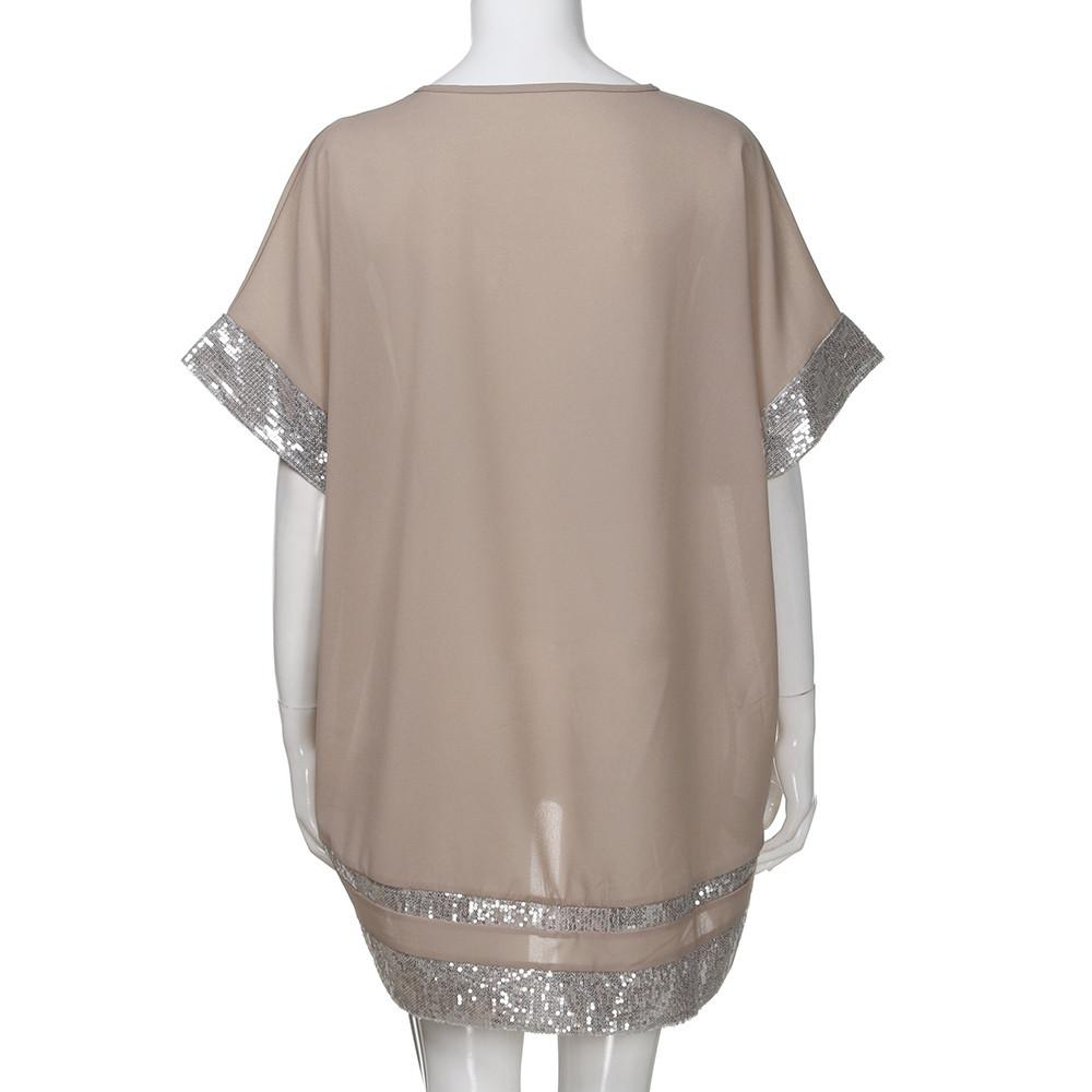 Women's Sequined V-Neck Blouse