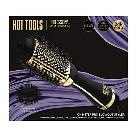 Professional 24k Gold Charcoal Infused One-step Blowout Styler