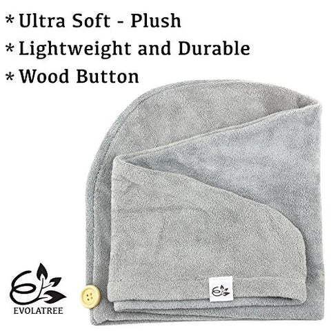 Image of Microfiber Hair Towel Wrap