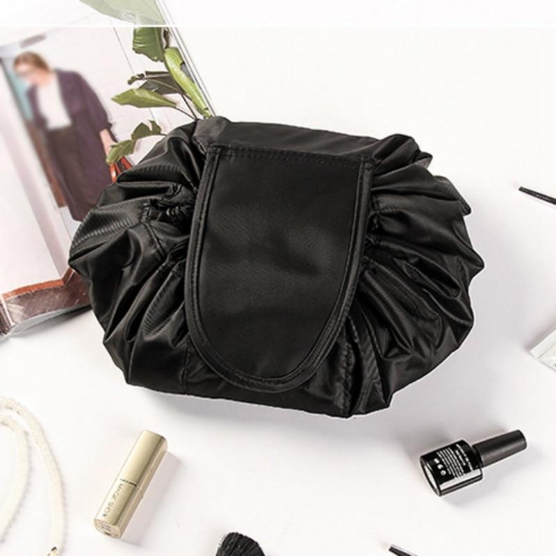 Portable Cosmetic Travel Bag With Drawstring