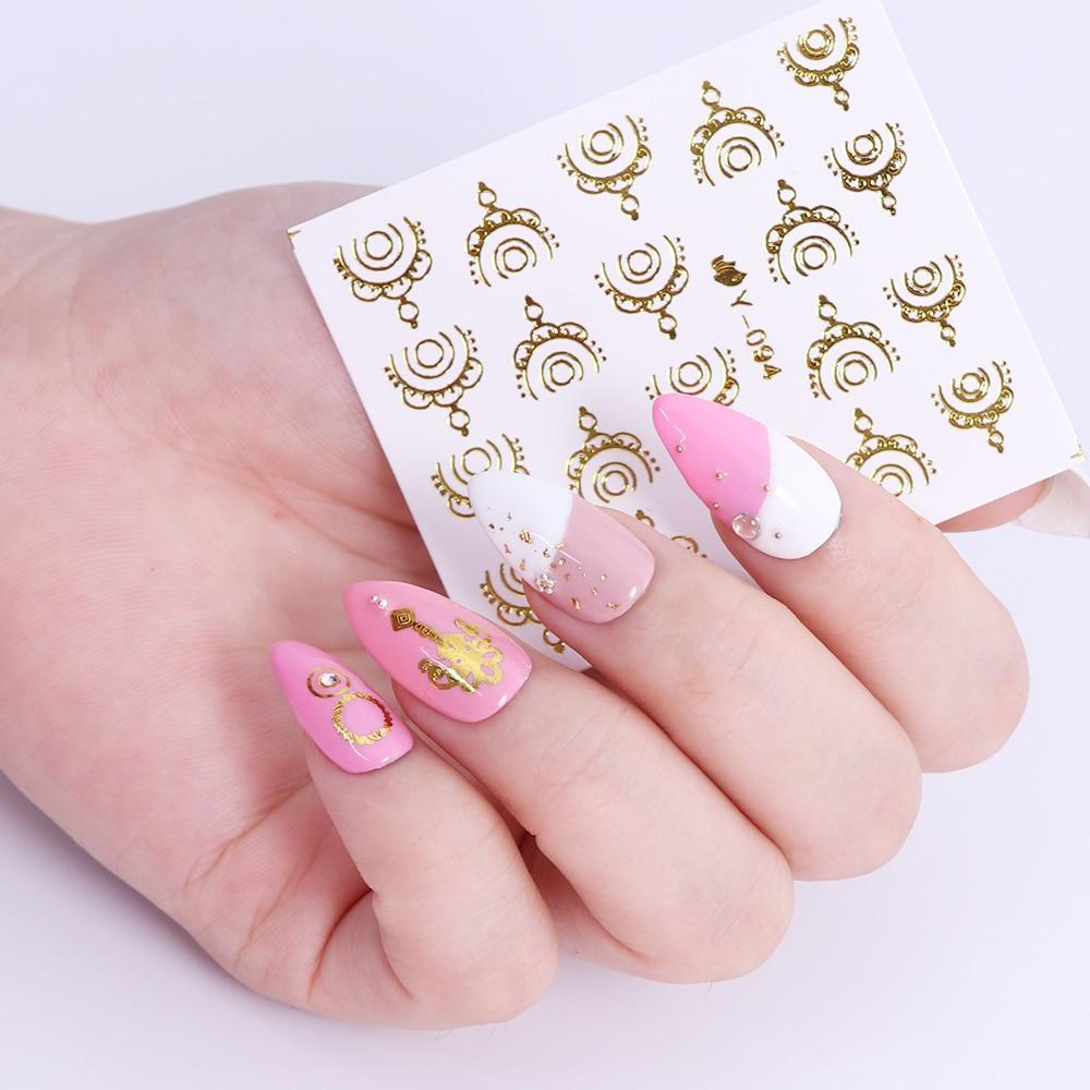Gold & Silver Nail Stickers (30 pieces)