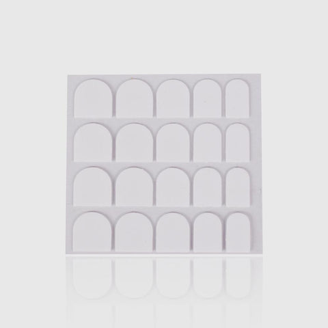 Image of 3 Sheets - Transparent Adhesive Tabs for Nails Tips 0.5mm