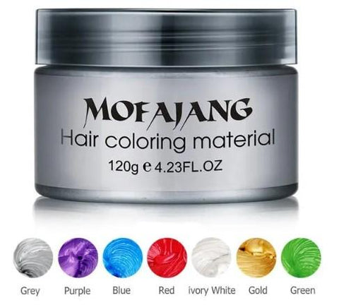 MOFAJANG Temporary Hair Color Wax 4.23 oz. (8 Colors)