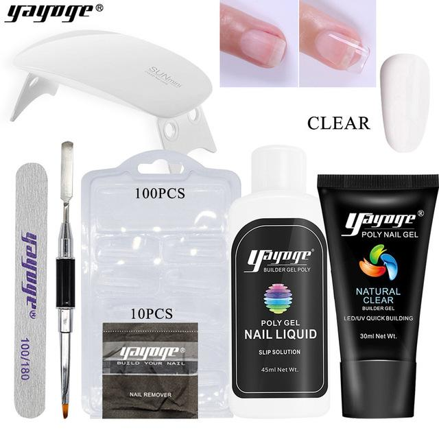 🔥 UV Poly Gel  Nail Enhancement Kit