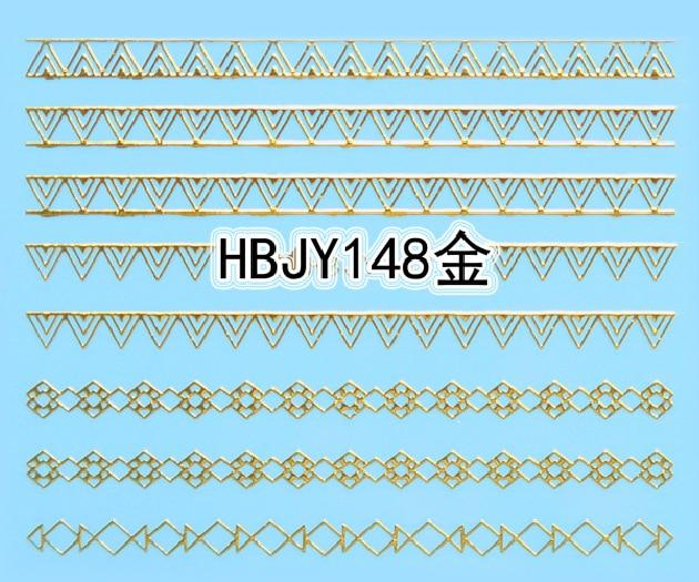 1pc Gold Lace Ethnic 3D Designs Nail Art Stickers for Nails Decals Manicure Decor Tools DIY Tips Decoration Fashion Accessories