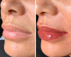Lip blushing semi-permanent makeup by Christopher Drummond