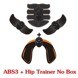 2/4/6/8pcs Set Hip Trainer Abdominal machine electric muscle stimulator ABS ems Trainer Body slimming Massage without retail box - www-palaoutletstore.com