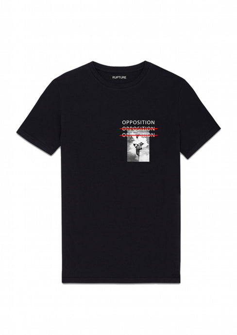 t shirt noir rupture vetements opposition