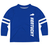 Kentucky Stripes Blue Long Sleeve Tee Shirt - Vive La Fête - Online Apparel Store