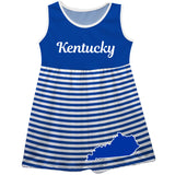 Kentucky Big Logo Blue And White Stripes Tank Dress