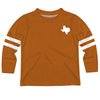 Texas Map Stripes Orange Long Sleeve Tee Shirt - Vive La Fête - Online Apparel Store
