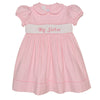 Sister Smocked Pink Corduroy Girls Dress Short Sleeve - Vive La Fête - Online Children's Apparel