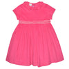 Hot Pink Corduroy Basic Girls Dress Short Sleeve - Vive La Fête - Online Children's Apparel