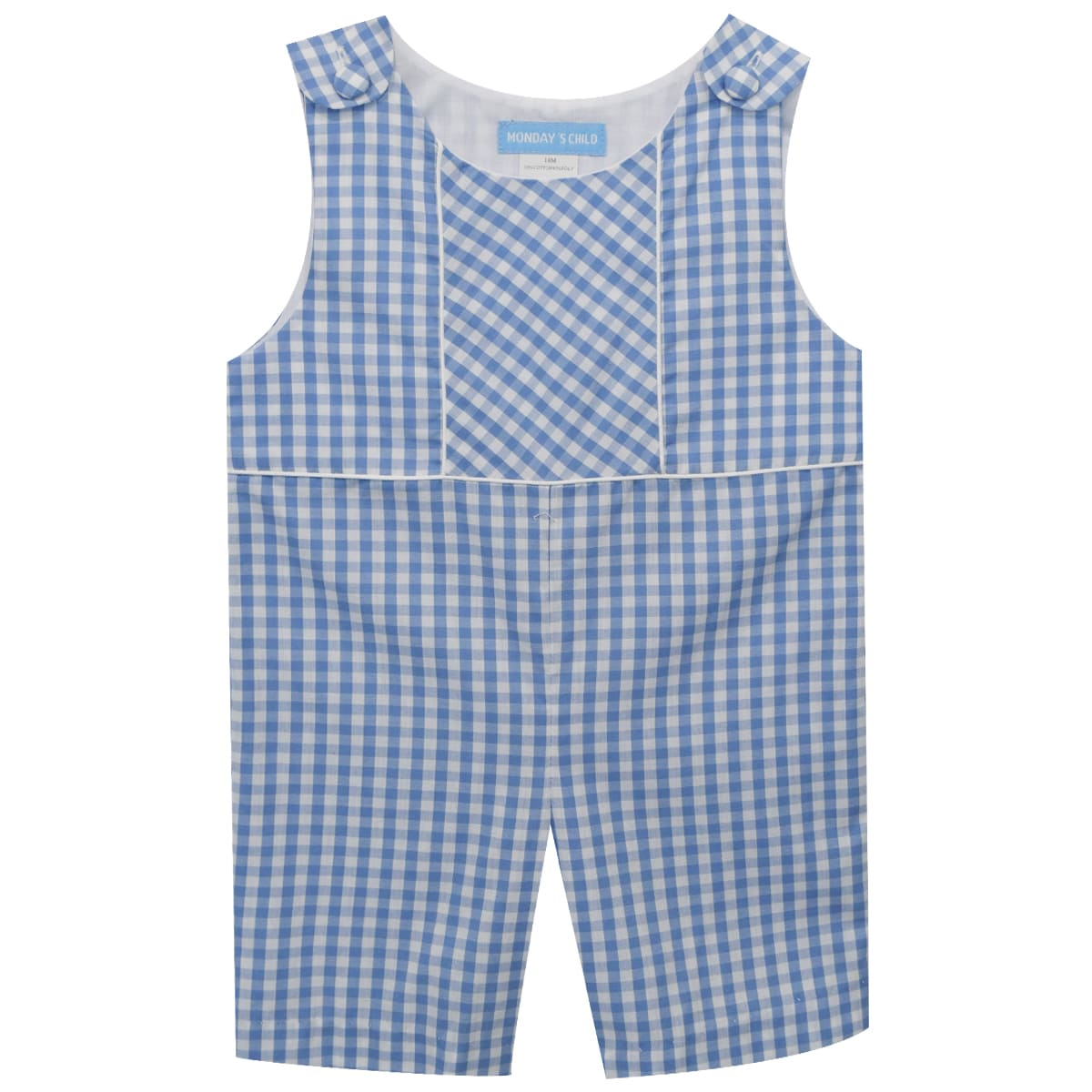 Blue Check Boys Shortall - Vive La Fête - Online Apparel Store