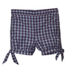 Red and Navy Plaid Girls Bubble Short