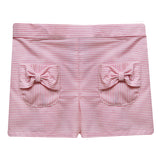 Pink Stripe Girls Short With Pockets - Vive La Fête - Online Apparel Store