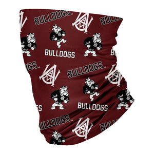 Alabama A&M Bulldogs AAMU Neck Gaiter Maroon All Over Logo - Vive La Fête - Online Children's Apparel