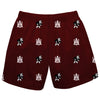 Alabama A&M Bulldogs Vive La Fete Boys Game Day All Over Logo Elastic Waist Classic Play Maroon Pull On Short - Vive La Fête - Online Children's Apparel