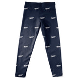 Akron Zips Leggings Navy All Over Logo - Vive La Fête - Online Children's Apparel