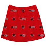 Arkansas State Red Wolves Skirt Red All Over Logo - Vive La Fête - Online Children's Apparel
