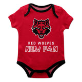 Arkansas State Red Wolves Red Short Sleeve                                                                   Boys Onesie - Vive La Fête - Online Children's Apparel