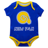 Albany State Rams ASU Vive La Fete Infant Game Day Blue Short Sleeve Onesie New Fan Mascot Bodysuit - Vive La Fête - Online Apparel Store