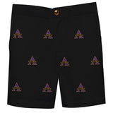 Alcorn State University Braves Vive La Fete Boys Game Day All Over Logo Black Structured Dress Shorts with Side Pockets - Vive La Fête - Online Children's Apparel