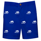 Alabama at Huntsville Chargers Vive La Fete Boys Game Day All Over Logo Blue Structured Shorts wuth Side Pockets - Vive La Fête - Online Apparel Store