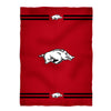 Arkansas Stripes Red Fleece Blanket - Vive La Fête - Online Apparel Store