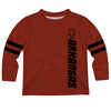 Arkansas Razorbacks Stripes Red Long Sleeve Tee Shirt