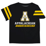 Appalachian State Mountaineers Black Tee Shirt Short Sleeve - Vive La Fête - Online Children's Apparel