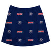 Belmont University Bruins Vive La Fete Girls Game Day All Over Logo Elastic Waist Classic Play Blue Skirt - Vive La Fête - Online Apparel Store