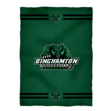 "Binghamton University Bearcats Vive La Fete Game Day Soft Premium Fleece Green Throw Blanket 40 x 58"" Logo and Stripes"" - Vive La Fête - Online Apparel Store"