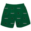 Binghamton University Bearcats Vive La Fete Boys Game Day All Over Logo Elastic Waist Classic Play Green Pull On Short - Vive La Fête - Online Apparel Store