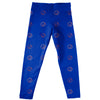 Boise State University Broncos Vive La Fete Girls Game Day All Over Logo Elastic Waist Classic Play Blue Leggings Tights - Vive La Fête - Online Apparel Store