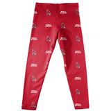 Ball State University Cardinals Girls Game Day All Over Logo Elastic Waist Classic Play Red Leggings Tights - Vive La Fête - Online Apparel Store