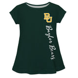 Baylor Bears Bears Green Solid Short Sleeve Girls Laurie Top - Vive La Fête - Online Apparel Store