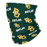 Baylor Bears All Over Logo Green Neck Gaiter - Vive La Fête - Online Apparel Store