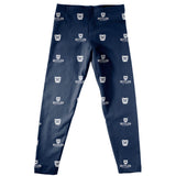 Butler University Bulldogs Vive La Fete Girls Game Day All Over Logo Elasctic Waist Classic Play Navy Leggings Tights - Vive La Fête - Online Apparel Store