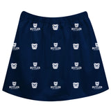Butler University Bulldogs Skirt Navy All Over Logo - Vive La Fête - Online Apparel Store