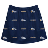 California Baptist Lancers CBU Skirt Navy All Over Logo - Vive La Fête - Online Apparel Store