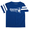 Central Connecticut State Blue Devils CCSU Vive La Fete Boys Game Day Blue Short Sleeve Tee with Stripes on Sleeves - Vive La Fête - Online Apparel Store