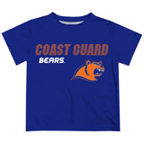United States Coast Guard Academy Solid Stripped Logo Blue Short Sleeve Tee Shirt - Vive La Fête - Online Apparel Store