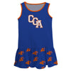 United States Coast Guard Academy Repeat Logo Blue Sleeveless Lily Dress - Vive La Fête - Online Apparel Store